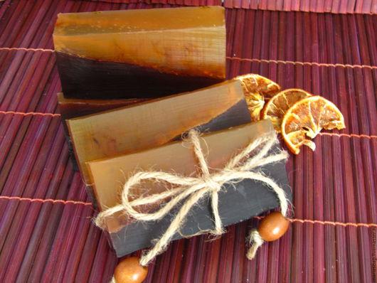 Мыло ручной работы. Ярмарка Мастеров - ручная работа. Купить Шоколад с апельсином Мыло ручной работы. Handmade. Коричневый