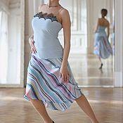 Одежда ручной работы. Ярмарка Мастеров - ручная работа Юбка полусолнце полоска. Handmade.