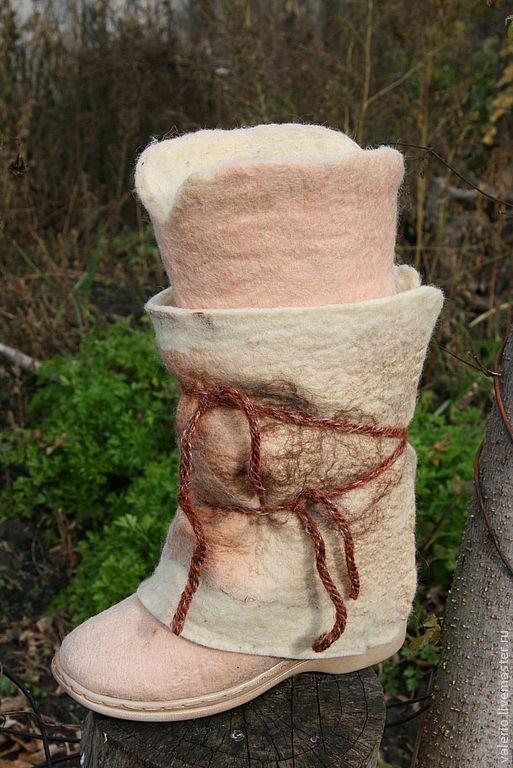 Обувь ручной работы. Ярмарка Мастеров - ручная работа. Купить Снег +. Handmade. Шерсть, валенки ручной работы