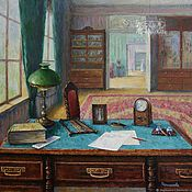handmade. Livemaster - original item office. Oil on canvas, 70h70 cm. 2018.. Handmade.