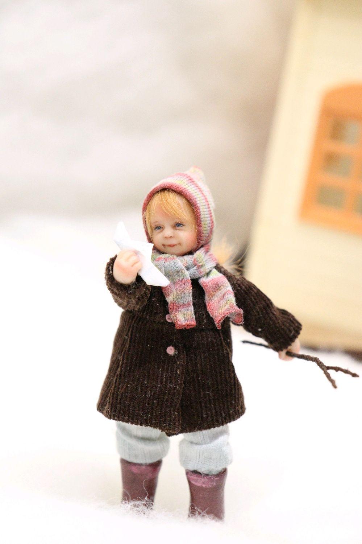 Кукла миниатюра 8,5 см, Интерьерная кукла, Подольск,  Фото №1