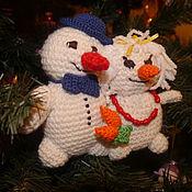 Куклы и игрушки ручной работы. Ярмарка Мастеров - ручная работа Парочка снеговиков. Handmade.