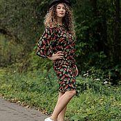 Одежда handmade. Livemaster - original item Knitted dress with Rowan print. Handmade.
