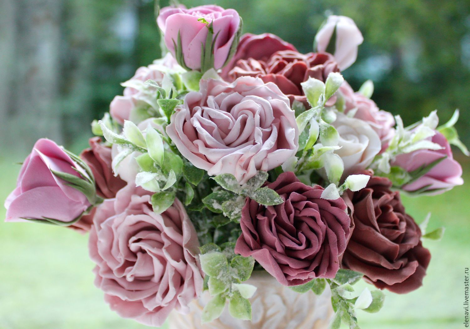 Bouquet with roses – shop online on Livemaster with shipping ...