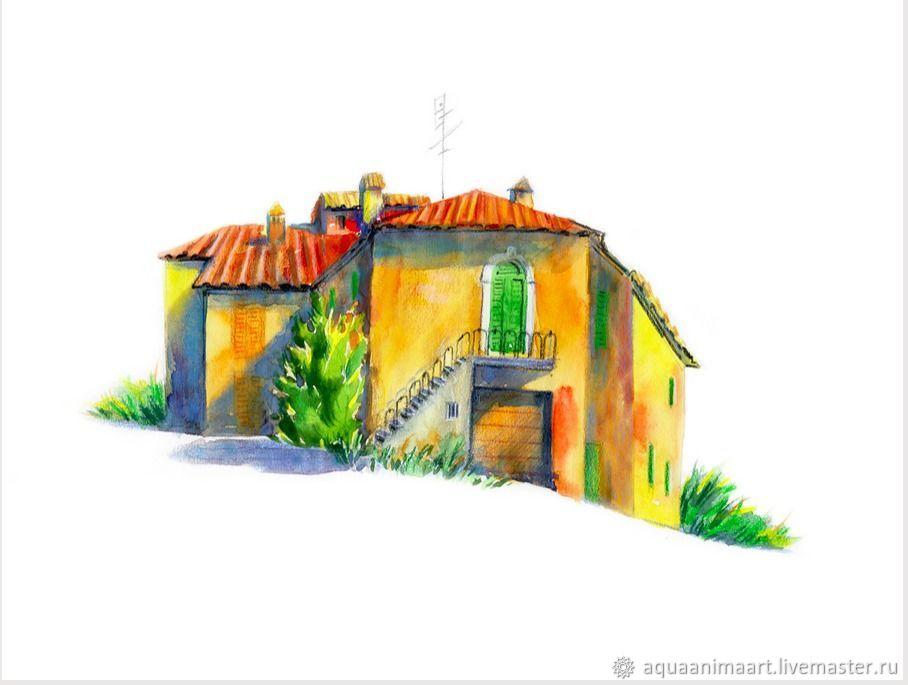 Домик в Монте-Сан-Савино, Картины, Москва, Фото №1