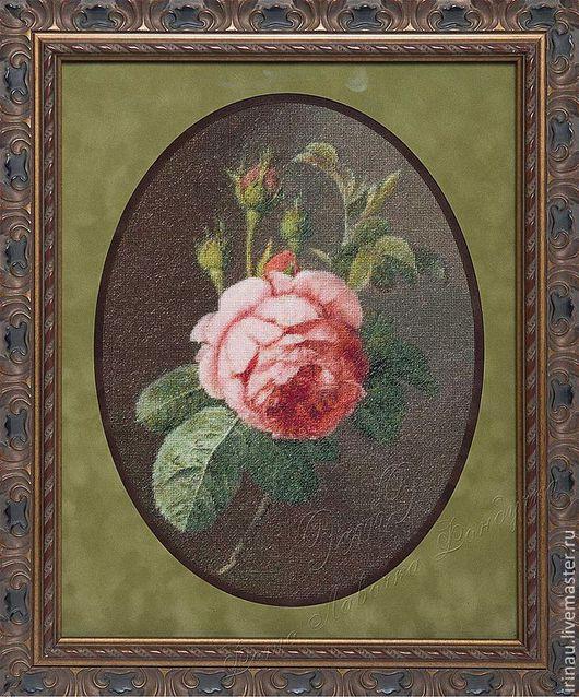 Картины цветов ручной работы. Ярмарка Мастеров - ручная работа. Купить Роза по мотивам картины художника Christiaen Van Pol. Handmade.