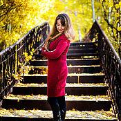 """Одежда ручной работы. Ярмарка Мастеров - ручная работа Платье вязаное """"Бордо"""". Handmade."""