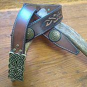 Аксессуары handmade. Livemaster - original item Strap male genuine leather. Handmade.