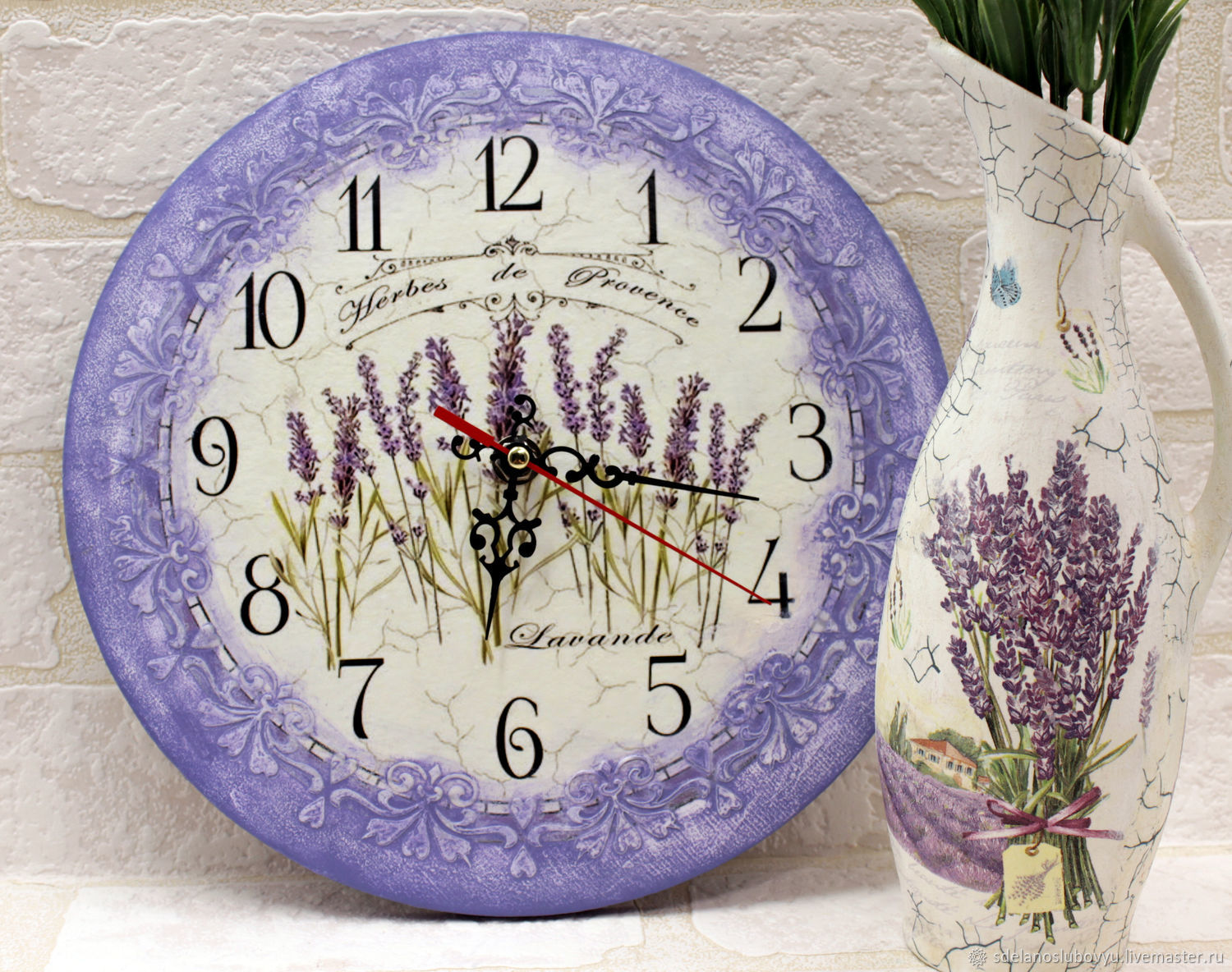 Watch Lavender decoupage, Watch, Moscow,  Фото №1