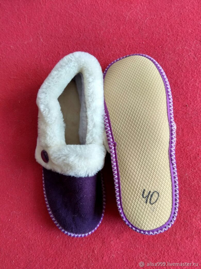 Tapuli for Granny from Mouton size 39, Slippers, Moscow,  Фото №1