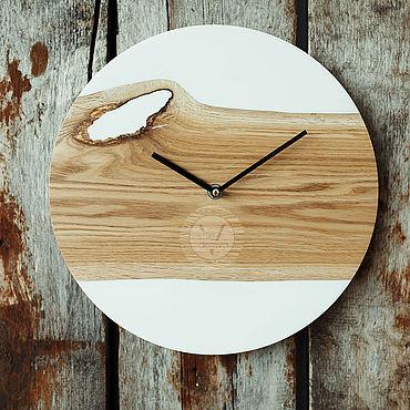 """Для дома и интерьера ручной работы. Ярмарка Мастеров - ручная работа Часы """"White oak"""". Handmade."""