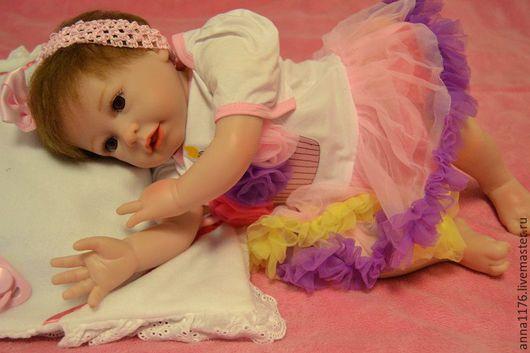 Куклы-младенцы и reborn ручной работы. Ярмарка Мастеров - ручная работа. Купить Кукла реборн малышка девочка. Handmade. Оранжевый