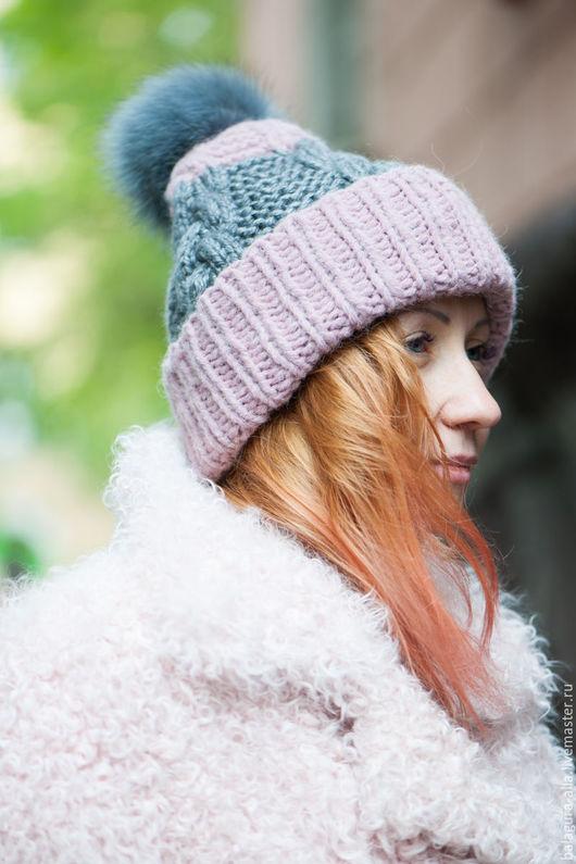 """Шапки ручной работы. Ярмарка Мастеров - ручная работа. Купить Шапка """"Нежность"""". Handmade. Розовый, помпон, стильная шапка"""