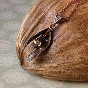 Украшения handmade. Livemaster - original item Acacia copper-plated pendant. Handmade.