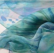 """Аксессуары ручной работы. Ярмарка Мастеров - ручная работа """"Курортный роман"""" , шелковый платок. Handmade."""