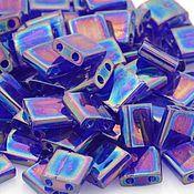 Материалы для творчества ручной работы. Ярмарка Мастеров - ручная работа Миюки ТИЛА 177 transparent rainbow dark cobalt 10гр. Handmade.