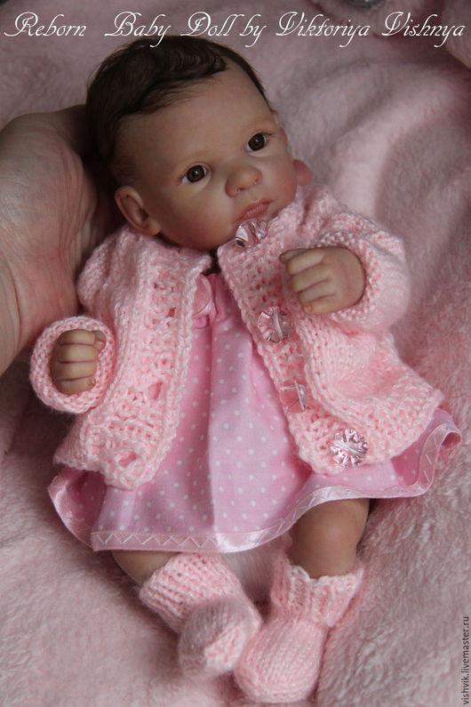 Куклы-младенцы и reborn ручной работы. Ярмарка Мастеров - ручная работа. Купить Дюймовочка 2. Handmade. Розовый, винил
