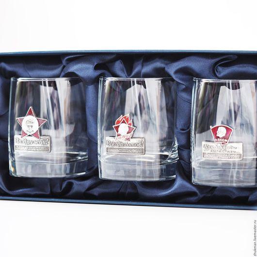 Подарки для мужчин, ручной работы. Ярмарка Мастеров - ручная работа. Купить Набор стаканов НОСТАЛЬГИЯ (ЭМАЛЬ). Подарочный набор (3 стакана/бокала). Handmade.