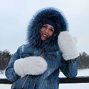Аксессуары handmade. Livemaster - original item Fur mittens. Handmade.
