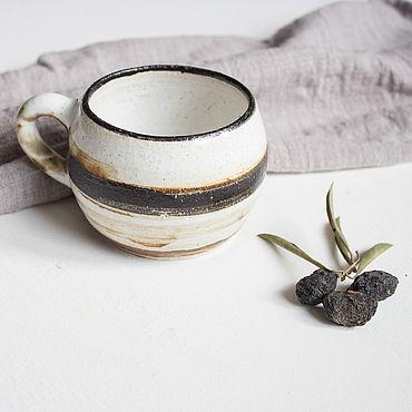 Посуда ручной работы. Ярмарка Мастеров - ручная работа Кружки: керамическая кружка на 280 мл. Handmade.