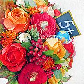 """Цветы и флористика ручной работы. Ярмарка Мастеров - ручная работа Букет из конфет """"Учимся на 5!"""". Handmade."""