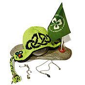 Аксессуары handmade. Livemaster - original item Rune hat and Shamrock-1. Handmade.