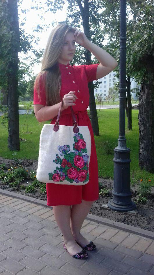 Женские сумки ручной работы. Ярмарка Мастеров - ручная работа. Купить Валяная сумка. Handmade. Валяная сумка, большая сумка