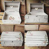 Свадебный салон ручной работы. Ярмарка Мастеров - ручная работа Сундук для денежных подарков. Handmade.