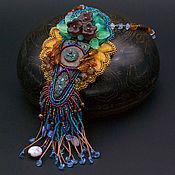 "Украшения handmade. Livemaster - original item Pendant bead with ceramic cabochon ""Romans in Atlantis"". Handmade."