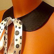 Аксессуары handmade. Livemaster - original item Collar Bow-peas/ satin, black. Handmade.