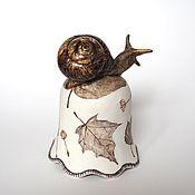 """Колокольчики ручной работы. Ярмарка Мастеров - ручная работа Колокольчик """"Улитка"""", фарфор. Handmade."""