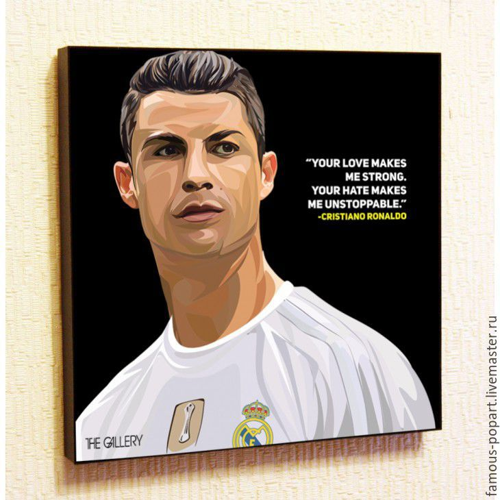 Painting Poster Pop Art Ronaldo Real Madrid, Fine art photographs, Moscow,  Фото №1