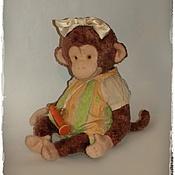 Куклы и игрушки ручной работы. Ярмарка Мастеров - ручная работа Мартышка-свистунишка. Handmade.