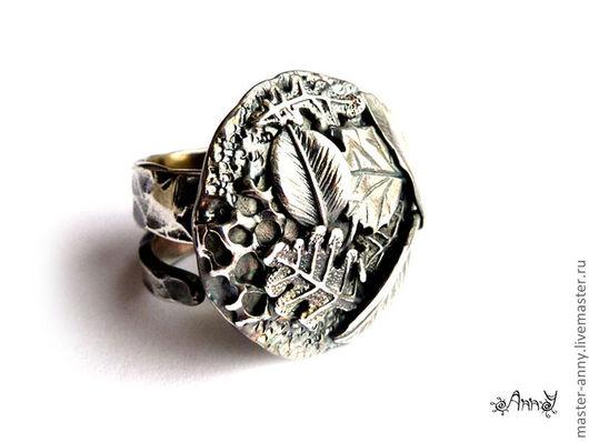 """Кольца ручной работы. Ярмарка Мастеров - ручная работа. Купить кольцо """"Серебряный сентябрь"""". Handmade. Кольцо, авторское украшение, осень"""