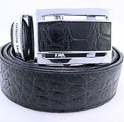 Аксессуары handmade. Livemaster - original item Crocodile leather belt IMA3005B. Handmade.