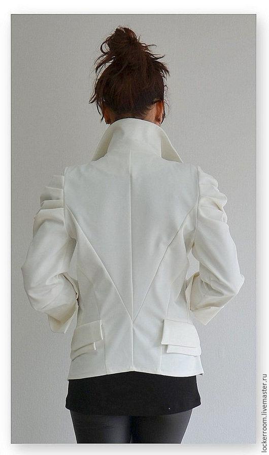 белый пиджак, женский жакет, ручная работа, красивый женский жакет, хлопковый пиджак, жакет из хлопка, модный жакет