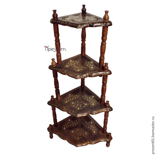 Мебель ручной работы. Ярмарка Мастеров - ручная работа. Купить Этажерка угловая, арт. 4003.а. Handmade. Коричневый