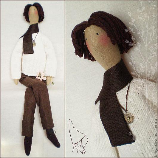Куклы Тильды ручной работы. Ярмарка Мастеров - ручная работа. Купить Кукла в стиле Тильда, мальчик Кеннет. Handmade. Белый