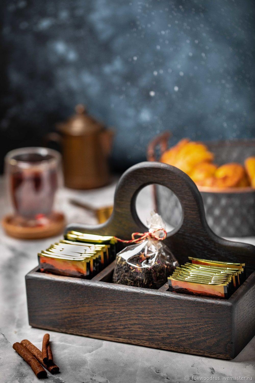 Подставка для чая с одной ручкой темная, Подставки, Москва,  Фото №1