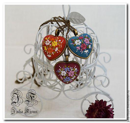 """Кулоны, подвески ручной работы. Ярмарка Мастеров - ручная работа. Купить Подвеска-кулон """"Heart"""". Handmade. Полимерная глина"""