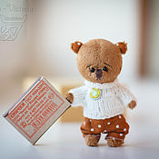 Куклы и игрушки ручной работы. Ярмарка Мастеров - ручная работа Мишка в свитере. Handmade.