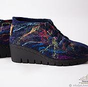 Обувь ручной работы handmade. Livemaster - original item Shoes felted abstraction. Handmade.