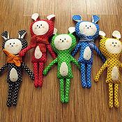 Куклы и игрушки ручной работы. Ярмарка Мастеров - ручная работа Зайчики игровые. Handmade.