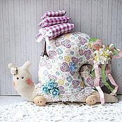 """Куклы и игрушки ручной работы. Ярмарка Мастеров - ручная работа Улитка тильда """"Шебби шик"""". Handmade."""
