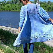 Одежда ручной работы. Ярмарка Мастеров - ручная работа Нежно голубое летнее пальто. Handmade.