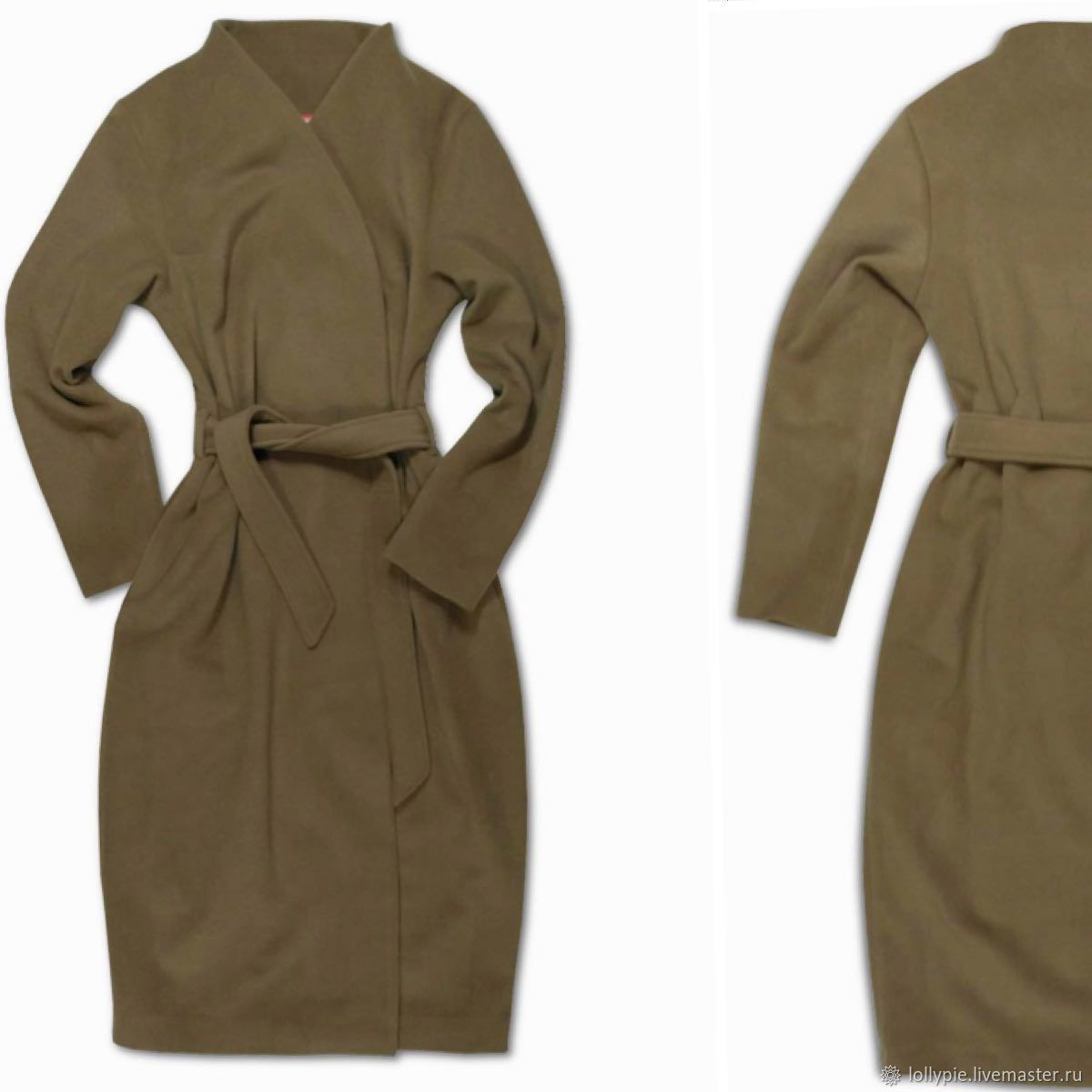 Coat with a smell, with a belt beige warm, Coats, Moscow,  Фото №1