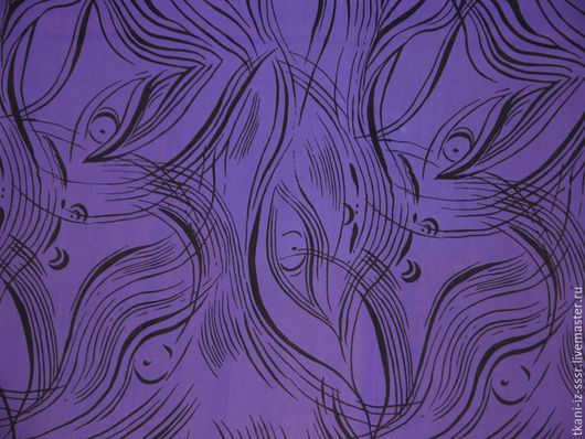 Шитье ручной работы. Ярмарка Мастеров - ручная работа. Купить 8 Крепдешин Натуральный шелк Винтаж СССР 3 м. Handmade.