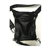 Сумки и аксессуары handmade. Livemaster - original item Leather Legbag middle size. Handmade.
