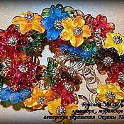 Украшения ручной работы. Ярмарка Мастеров - ручная работа Вальс цветов. Handmade.