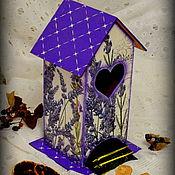 """Для дома и интерьера ручной работы. Ярмарка Мастеров - ручная работа Чайный домик """"Пучок лаванды"""". Handmade."""